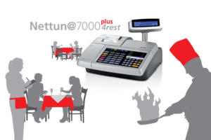 Olivetti Nettuna 7000 gestione ristoranti REGISTRATORE DI CASSA TOUCHSCREEN GESTIONE ORDINI COMANDE E TAVOLI