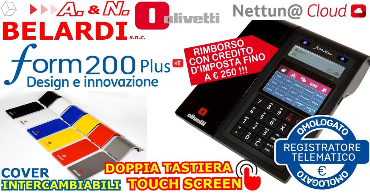 OFFERTA-REGISTRATORE-DI-CASSA-TELEMATICO-OLIVETTIFORM_200_PLUS-TOUCHSCREEN