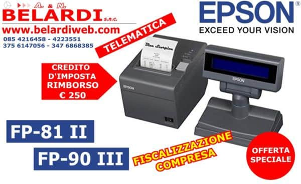 STAMPANTE FISCALE TELEMATICA EPSON FP81-II FP 90-III