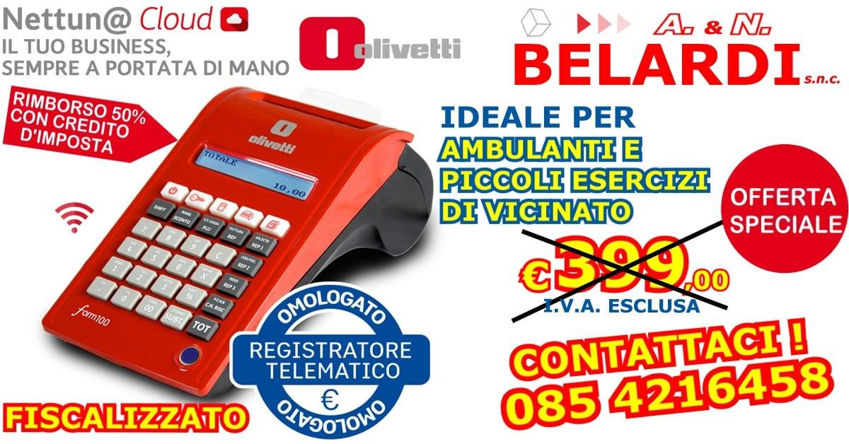 OFFERTA-REGISTRATORE_DI CASSA_TELEMATICO_PROMOZIONE_RIMBORSO_OLIVETTI_FORM_100