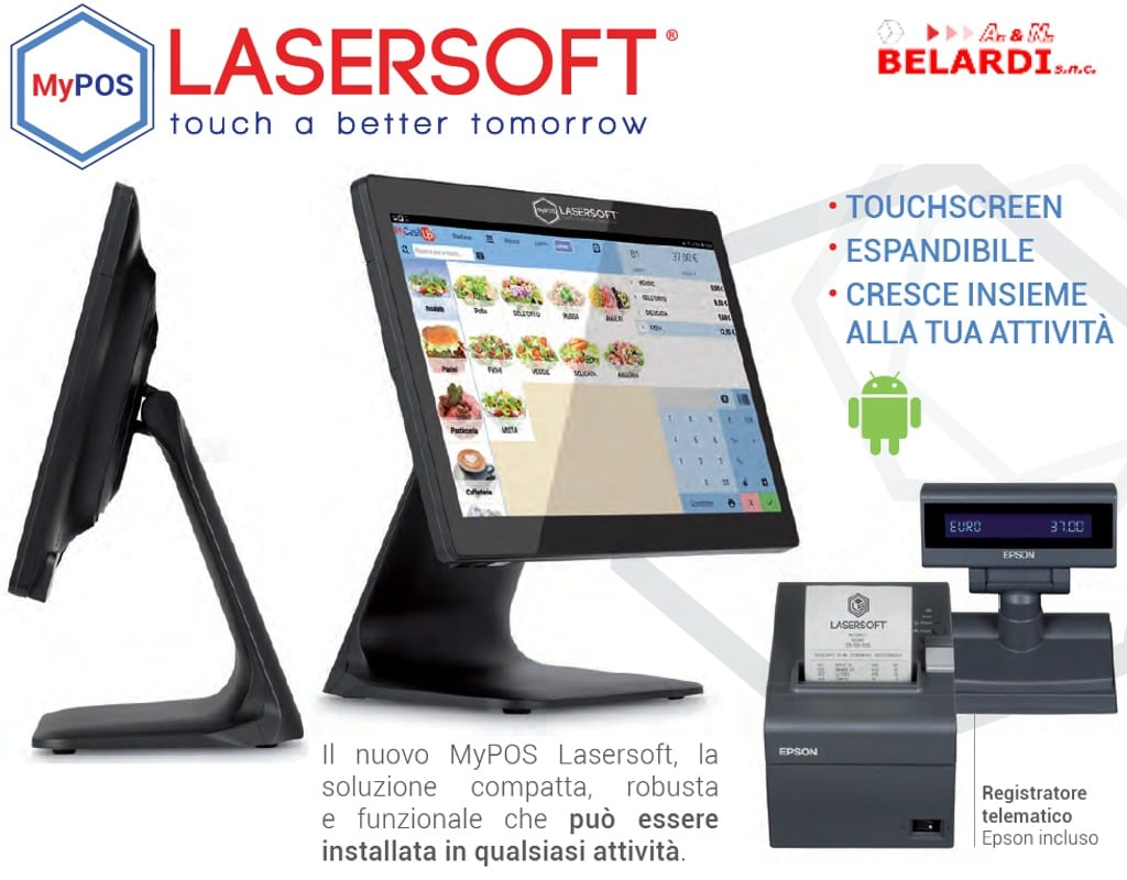 touchscreen mypos gestione negozio